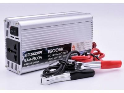 Инвертор автомобильный DC-AC 12V-220V пик.1500W